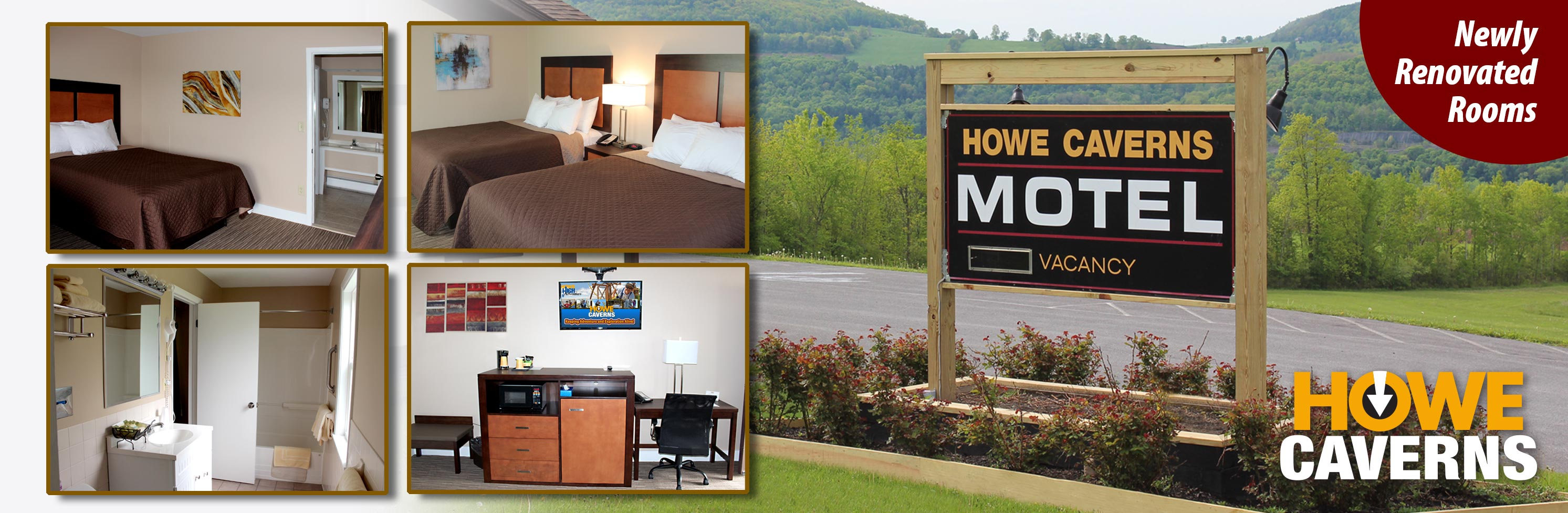 Howe Caverns Motel Located